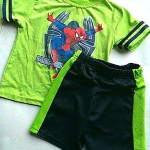 Spiderman short set